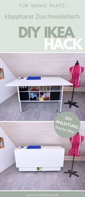 DIY: folding cutting table