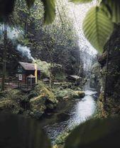 Dreamy cabin on an island