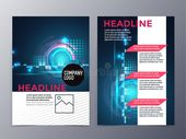 Business And Technology Brochure Design Template Vector Tri-fold Stock Vector – Illustration of print, graphic: 60103137