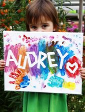 10+ Creative And Fun Canvas Painting Ideas For Kids #canvas #creative #ideas #painting