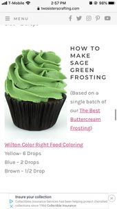 Sage Green Frosting Frosting Recipes Best Buttercream Frosting Green Food Coloring