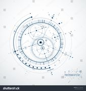 Engineering technological vector wallpaper circles Stock Vector (royalty-free) 1211256184