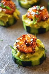 Cucumber Bites with Creole Shrimp and Guacamole should definitely be on all the …