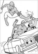 Spiderman Try To Catch The Robber Coloring Page In 2021 Cartoon Tutorial Coloring Pages Cartoon
