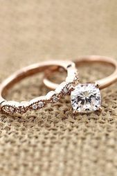 Wedding ring sets that make the perfect pair ❤ Read more: www.weddingforwar …… – New fashion rings