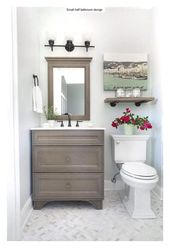 43 Cute Half Bathroom Ideas That Will Impress You – HomEnthusiastic