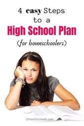 Four Straightforward Steps to a Excessive College Plan for Homeschoolers