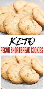 Leckere Keto-Pekannuss-Kekse, die Sie NICHT aufhören können zu essen! Ketogene Diät – Ke …