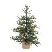 Photo of 3 'künstlicher Weihnachtsbaum aus Kiefernholz mit 50 warmweißen LED-Lichtern