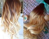 Ombre Hair Extensions, FULL SET, dunkles Haar, Haarclip, schwarzes Haar, silbernes Haar, graues Haar, - Frisur 2019 Teil Deux neue Hälfte 2019 Haar