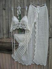 crochet Sarong Crochet Pareo Strandabdeckung Strandrock Crochet Hochzeit Spitze Sarong Hochzeit Crochet Sarong Beachwear Cover up