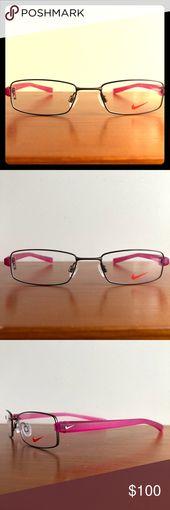 NIKE Women's Full Rim Rectangular Eyeglass Frames New with demo logo lenses.  … – My Posh Picks