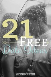 21 FREE date ideas for any budget {married couples in mind}