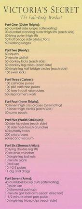 Victoria Secret Workout – Mache jede Runde 2-3x (mache die ersten 4 …   – Herbst Sport
