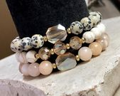 Gemstone Jewelry, Unique Gifts for Her, Inexpensive Gifts for Her, Handmade Jewelry, Handmade Bracelets, Chunky Bracelets, Christmas Gifts