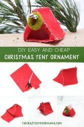 DIY Camping Tent Christmas Tree Ornament [Free PDF Template] – Christmas camping