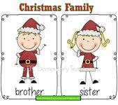 ESL Christmas and family.Und einige Flashcards zur Überprüfung von Familienmitgliedern.  – ESL Family