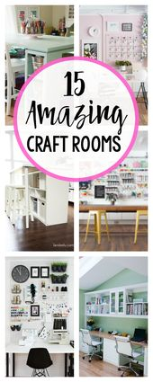15 Fun & Amazing Craft Room Ideas