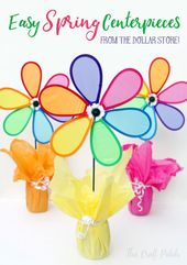 Colorful, Easy, Inexpensive Pinwheel Party Centerpieces – thecraftpatchblog.com