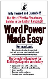 Word Power Made Easy Book Review Word Power Made Easy Norman