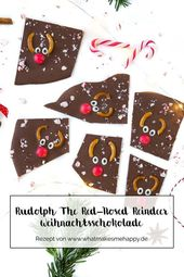Gift Idea: DIY Rudolph The Red-Nosed Reindeer Christmas Chocolate