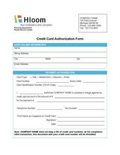Simple Credit Card Authorization Form  RebiltyOrg