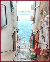 Exploring beautiful Rovinj Croatia Rovinj Rovigno in Italian is coastal Istria  …