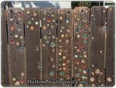 This article explains how to add glass marbles to a garden fence project.