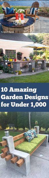 10 Amazing Garden Ideas for Under $1,000