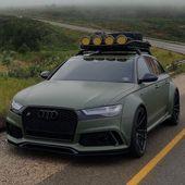 Audi Quattro – Die Farbe dieses Audi mit Dachträger ist scharf 🔥   – Farbig