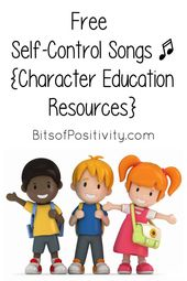 Free Self-Management Songs for Youngsters {Character Training Sources} – Bits of Positivity