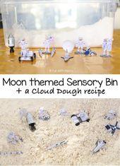 Moon Area Themed Sensory Bin