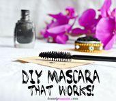 Selbstgemachte DIY-Wimperntusche mit Aktivkohle, die funktioniert – Beautymunsta – kostenlose natürliche Schönheits-Hacks und mehr!