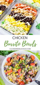 3f2ec55c6ca006af2c0689236ff35285 This Chicken Burrito Bowl recipe is an easy and healthy way to meal prep. Made w...