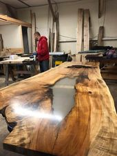 Live Edge Table Large Tables River Table Resin Table Live Edge Conference Table Live Edge Desk
