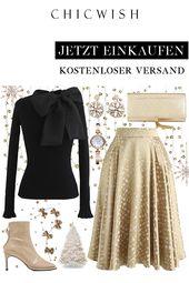 Golden Spot Jacquard Midi Skirt – Kleider