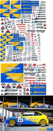 Spoon Racing Honda Decals Waterslide Transfers In 1 64 1 32 And 1 24 Scale Ebay Custom Car Decals Honda Vinyl Wrap Car