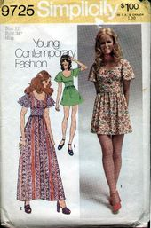 Complete UNCUT 1970s Women/'s Dress Sewing Pattern Simplicity 7026 Simple-to-Sew Vintage 70s Dress Sewing Pattern
