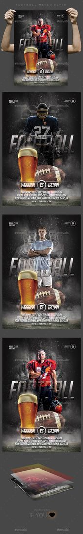 Nel Football Flyer Template Graphics Design Pinterest Flyer - football flyer template