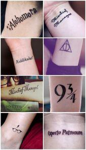 Harry Potter inspired tattoos: www.livingly.com / … #harry #inspired #livingly #potter