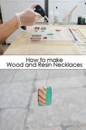 How to make necklaces from wood and resin #chains #making #jewelery …