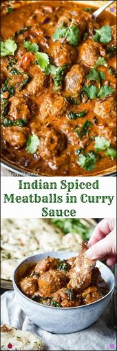 Just Add Rice And Naan To These Indian Spiced Meatballs In Curry Sauce And You&#…