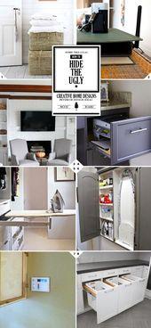 So verstecken Sie die hässlichen Dinge in Ihrem Haus   – Home