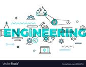 Technology engineering flat concept Royalty Free Vector