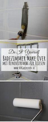 DIY: Badezimmer streichen und renovieren mit Fliesenfarbe –