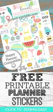 Free Printable Planner Stickers for Your Happy Planner – A Country Girl's Life