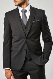 Herren Anzug Sakko CG Shane, schwarz
