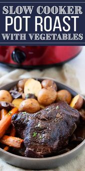 Slow Cooker Pot Roast with Gravy! Pot roast is comfort food at its finest. Put i…   – Recipes..I Love Food….