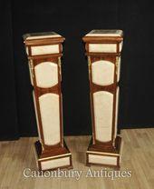 Pair Empire Pedestal Stand Tables Columns Carrera …