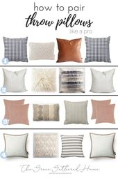How to Pair Throw Pillows • Grace